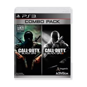 Jogos Call Of Duty Cod Black Ops 1 E 2 Combo Pack Para Ps3