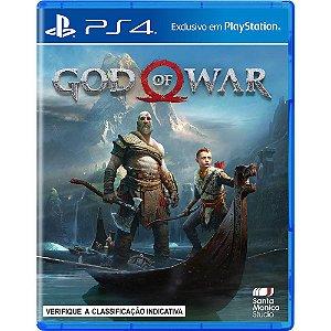 Jogo Mídia Física Lançamento God Of War Exclusivo Para Ps4