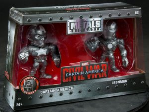 Bonecos Matal Die Cast Capitão America e Homem De Ferro 3956