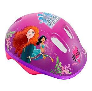 Capacete com Ajuste de Tamanho Disney Princesa Rosa Dtc 4071