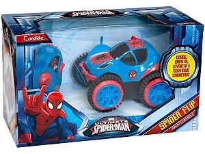 Carrinho De Controle Remoto Homem Aranha Spider Flip 5851