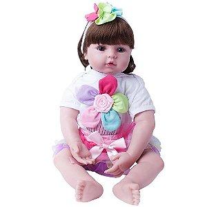 Boneca Realista Laura Baby Flora Bebe Reborn 000334