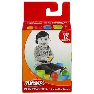 Brinquedo Infantil Playskool Bloco De Encaixar Barril
