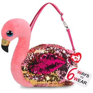Nova Bolsa Fashion Ty Paete Flamingo Gilda Rosa Dtc 5032