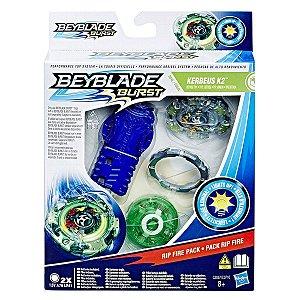 Beyblade Burst Kit Rip Fire Kerbeus K2 Defesa Hasbro C0710