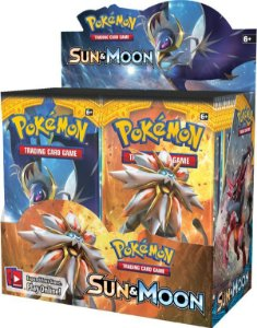 Novo Box Boosters Pokemon Sol E Lua 1 Sun and Moon Tcg