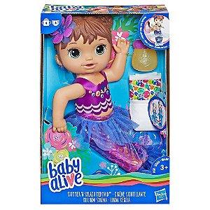 Boneca Baby Alive Linda Sereia Morena Hasbro E3691