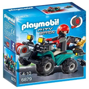 Novo Playmobil City Action Fugitivo com Quadriciclo 6879