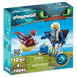 Novo Playmobil Dragoes Astrid com Hobgobbler 70041 Sunny