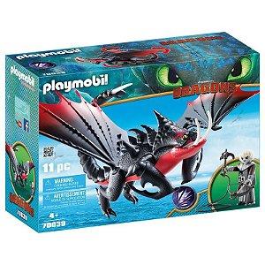 Novo Playmobil Dragoes Grimmel com Deathgripper 70039 Sunny