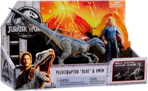 Brinquedo Jurassic World Blue e Owen Mattel FMM51