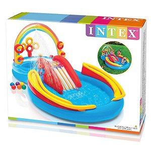 Nova Piscina Infantil Playground Arco Iris 206 L Intex 57453