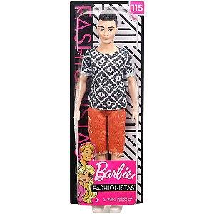 Boneco Nova Coleção Barbie Ken Fashionista Mattel Fxl62