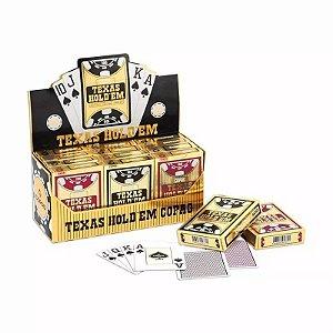 Caixa com 12 Baralhos Copag Texas Holdem Poker Size Plastico