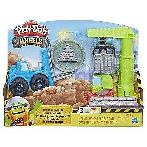 Massinha Play-Doh Wheels Conjunto Guindaste e Empilhadeira