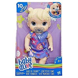 Boneca Baby Alive Bebê Primeiros Sons Loira Hasbro E3690