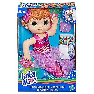 Boneca Baby Alive Linda Sereia Ruiva Hasbro E4410
