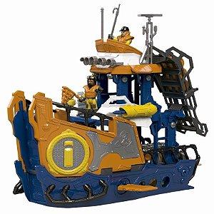 Brinquedo Imaginext Navio Comando Do Mar Dfx93