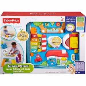 Mesa Bilingue Cidade Divertida Infantil Fisher Price Drh45