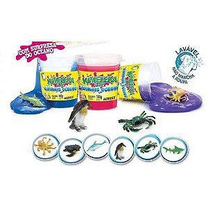 Brinquedo Slime Slyme Kimeleka Animais do Oceano Acrilex