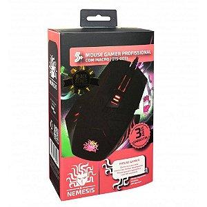 Mouse Gamer Nemesis Black Series Profissional Com Macro