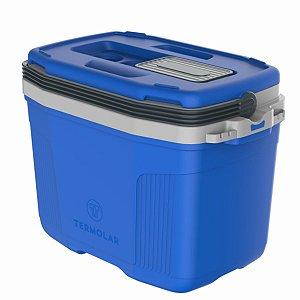 Caixa Térmica 32l Termolar Suv Azul Alça Plástica Porta Copo