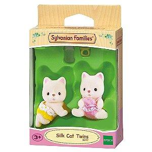 Brinquedo Sylvanian Families Gemeos Gato de Seda Epoch 5080