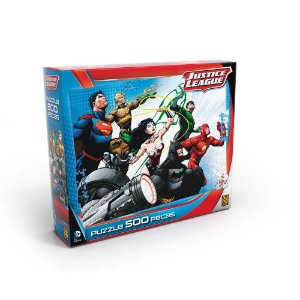 Quebra Cabeça Puzzle 500 Peças Liga Da Justiça Grow 03323