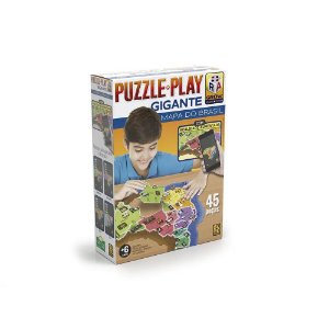 Quebra Cabeça Puzzle Play Mapa do Brasil Gigante Grow 03635