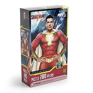 Quebra Cabeça Puzzle Shazam Dc Comics 200 Peças Grow 03757