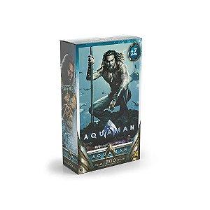 Quebra Cabeça Puzzle Aquaman Dc Comics 200 Peças Grow 03757