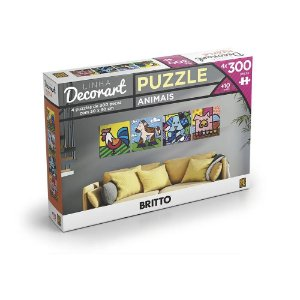 Quebra Cabeça 4 Puzzle de 300 Peças Romero Britto Grow 03398
