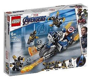Lego Os Vingadores Capitao America Ataque de Outriders 76123