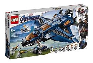 Novo Brinqeudo Lego Marvel O Quinjet dos Vingadores 76126