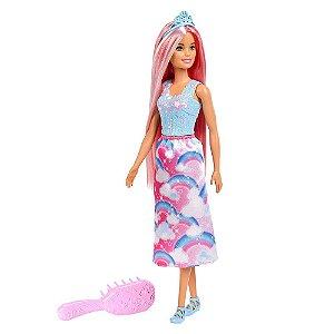 Nova Boneca Barbie Dreamtopia Penteados Magicos Mattel Fxr94