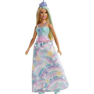 Nova Boneca Barbie Dreamtopia Princesa Loira Mattel Fxt13