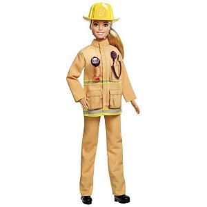 Nova Boneca Barbie Quero Ser 60 Anos Bombeira Mattel Gfx23