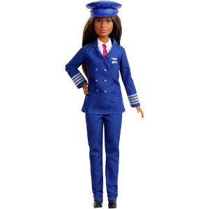 Nova Boneca Barbie Quero Ser 60 Anos Piloto Mattel Gfx23