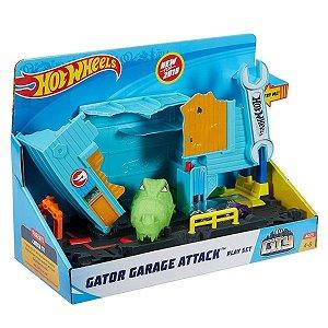 Hot Wheels City Ataque Do Jacaré  Na Oficina Mattel  FNB05