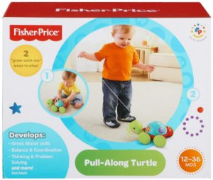 Novo Brinquedo Infantil Empurra Tartaruga Fisher Price Y8652