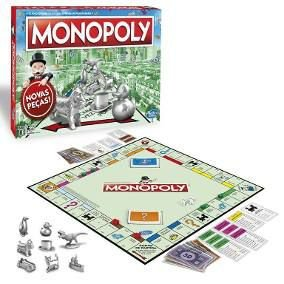 Jogo original Hasbro Tabuleiro Monopoly novos tokens C1009