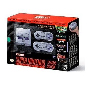 Console Super Nintendo com 21 Jogos e 2 Controles
