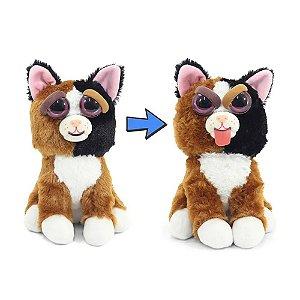 Novo Brinquedo Pelucia Feisty Pets Teca Trombada Dtc 4714