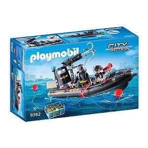 Novo Playmobil Action Unidade Tatica Com Bote Sunny 9362