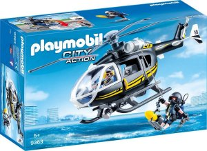 Playmobil Action Unidade Tatica Com Helicóptero Sunny  9363