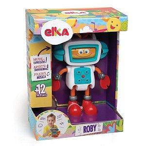 Novo Brinquedo Infantil Roby Robo de Atividades Elka 671