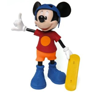 Novo Brinquedo Boneco Mickey Mouse Radical com Som Elka 900