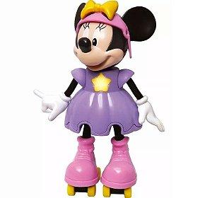 Novo Brinquedo Boneca Minnie Patinadora com Som Elka 950