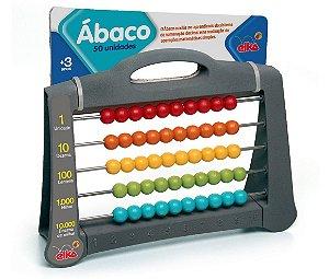 Novo Brinquedo Escolar Ábaco 50 Unidades Elka 1001