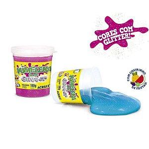 Brinquedo Slime Kimeleka Cores Com Glitter Acrilex